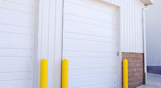 Commercial Ribbed Steel Pan Garage Doors
