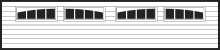 Northeast Georgia Gutters and Garage Doors, Inc. - Garage Door Window Insert - 2 - 2 Piece Arched Madison