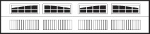 Northeast Georgia Gutters and Garage Doors, Inc. - Garage Door Window Insert - 2 - 2 Piece Arched Stockton