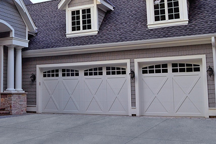 Northeast Georgia Gutters and Garage Doors, Inc. - Carriage House Overlay Garage Door - 5500
