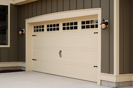 Northeast Georgia Gutters and Garage Doors, Inc. - Carriage House Stamped Garage Door - 5251