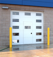 Commercial Garage Door Optional Accessories - Pass Through Door - Closed
