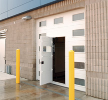 Commercial Garage Door Optional Accessories - Pass Through Door - Open