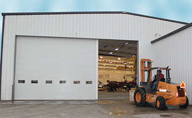 Commercial Garage Door Optional Accessories - Swing-Up Sectional Post