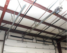 Commercial Garage Door Track Option - Trolley Operation