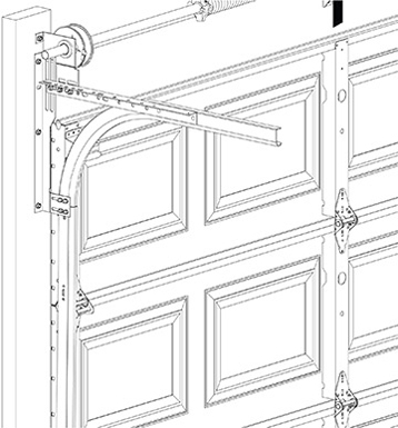 Commercial Garage Door Track Option - Bracket Mount