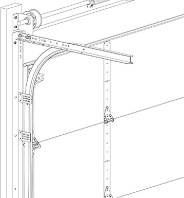 Commercial Garage Door Track Option - Clip Angle