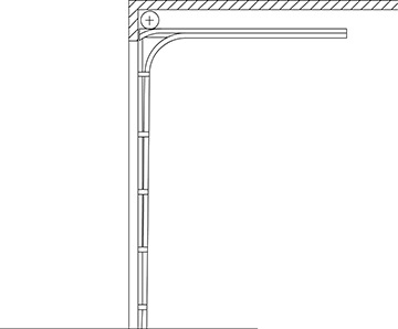 Commercial Garage Door Track Option - Low Headroom: Front Mount